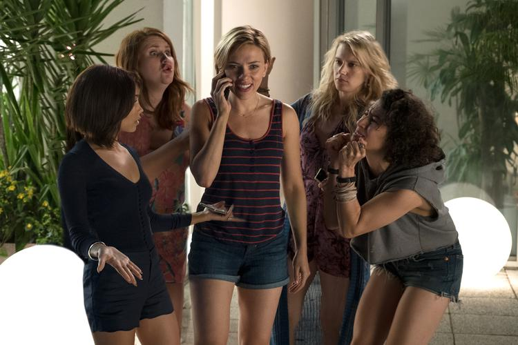 Zoe Kravitz, Jillian Bell, Scarlett Johansson, Kate McKinnon, lana Glazer in ROUGH NIGHT.